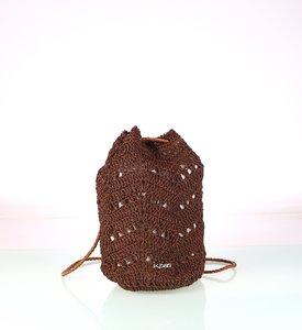 Dámsky batoh zo syntetickej rafie Kbas hnedý 318712M