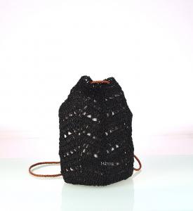 Dámsky batoh zo syntetickej rafie Kbas čierny