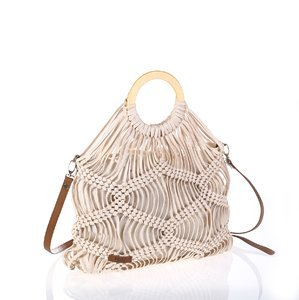 Nákupná taška z bavlny Kbas biela KB318915BL