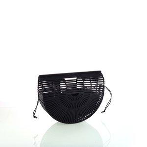 Dámska kabelka z bambusu do ruky Kbas čierna 327803N
