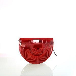 Dámska kabelka z bambusu do ruky Kbas červená 327803R