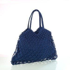 Dámska sieťkovaná taška zo syntetickej rafie Kbas modrá 327804AZ