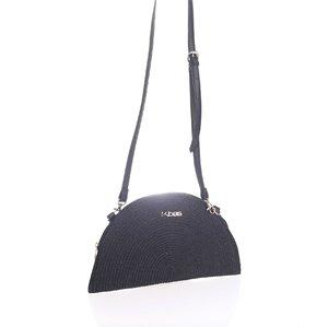 Listová kabelka so zipsom Kbas čierna KB327904N