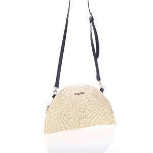 Listová kabelka so zipsom Kbas natural KB327904NA