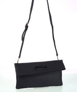 Dámska kabelka s odnímateľným ramienkom eko koža Kbas čierna