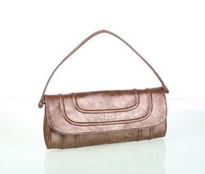 Elegantná dámska kabelka z eko kože s prešívaním Kbas medená