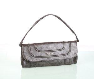 Elegantná dámska kabelka z eko kože s prešívaním Kbas strieborná