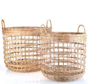 Set 2 košíků z ratanu Kbas KB330618