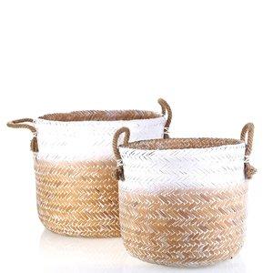 Set 2 košíků z bambusu Kbas KB330619