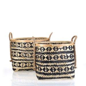 Set 2 košíkov z bambusu Kbas KB330620