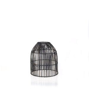 Bambusový kryt na lampu Kbas čierny KB330622N