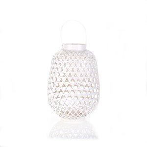 Bambusový svícen Kbas bílý KB330625