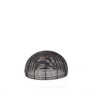 Ratanový kryt na lampu Kbas čierny KB330631N