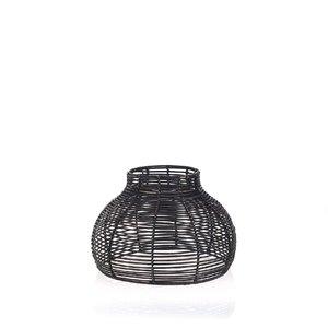 Ratanový kryt na lampu Kbas čierny KB330632N