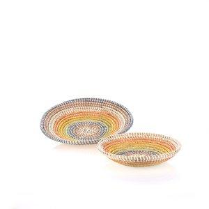 Set 2 košíkov z morskej trávy Kbas farebné KB330638