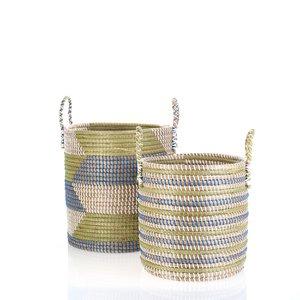 Set 2 košíkov z morskej trávy Kbas KB330640