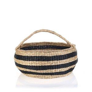 Košík z morskej trávy Kbas čierny KB330647N