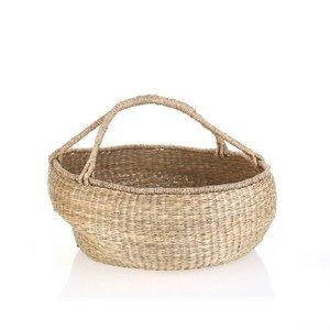 Košík z morskej trávy Kbas natural KB330647NA