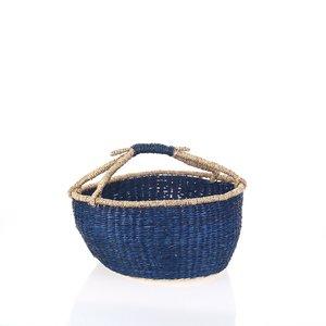 Košík z morskej trávy Kbas modrý KB330650AZ