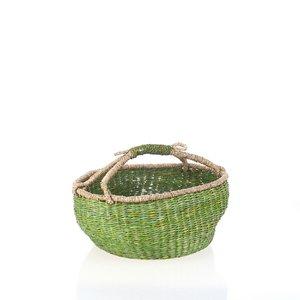 Košík z morskej trávy Kbas zelený KB330650V