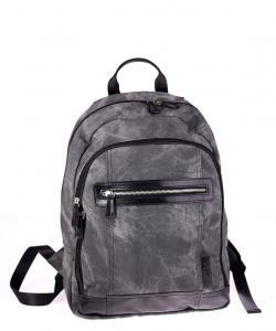 Pánsky batoh Kbas z eko kože sivý