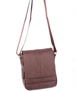 Pánska taška cez rameno eko koža Kbas hnedá
