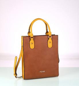 Elegantná kabelka z eko kože Kbas hnedá 338705CU