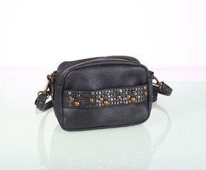 Dámska kabelka cez rameno z eko kože Kbas s ozdobným vybíjaním čierna