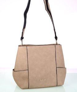 Elegantná dámska kabelka cez rameno z eko kože Kbas béžová