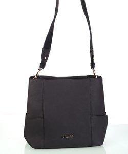 Elegantná dámska kabelka cez rameno z eko kože Kbas šedá