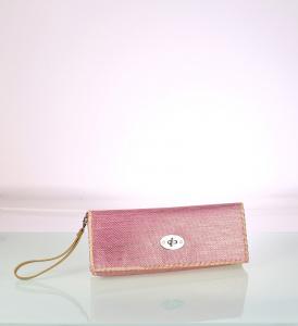 Listová kabelka zo syntetickej rafie Kbas s ombré ružová 341713RS