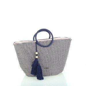 Bavlnená taška so zipsom Kbas modrá KB341920AZ
