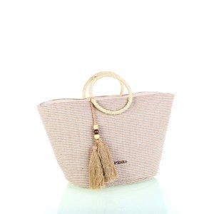 Bavlnená taška so zipsom Kbas béžová KB341920BE