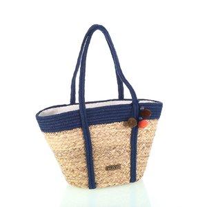 Košík so zipsom z morskej trávy Kbas modrý KB341931AZ