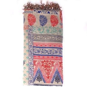 Pareo/ručník z bavlny Kbas se vzorem KB342818
