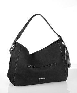 Elegantná dámska kabelka eko koža Kbas s predným zipsom čierna
