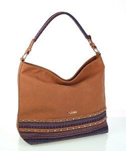 8eaad6313b Elegantní kabelka z eko kůže a látky Kbas se vzorem modrá
