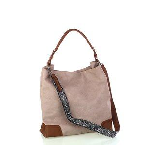Dámska koženková taška cez rameno Kbas béžová 346801BE
