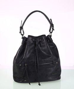 Elegantná dámska kabelka eko koža Kbas s metalickým odleskom čierna