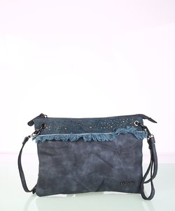 Dámska kabelka cez rameno z eko kože Kbas modrá