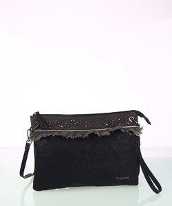 Dámska kabelka cez rameno z eko kože Kbas čierna